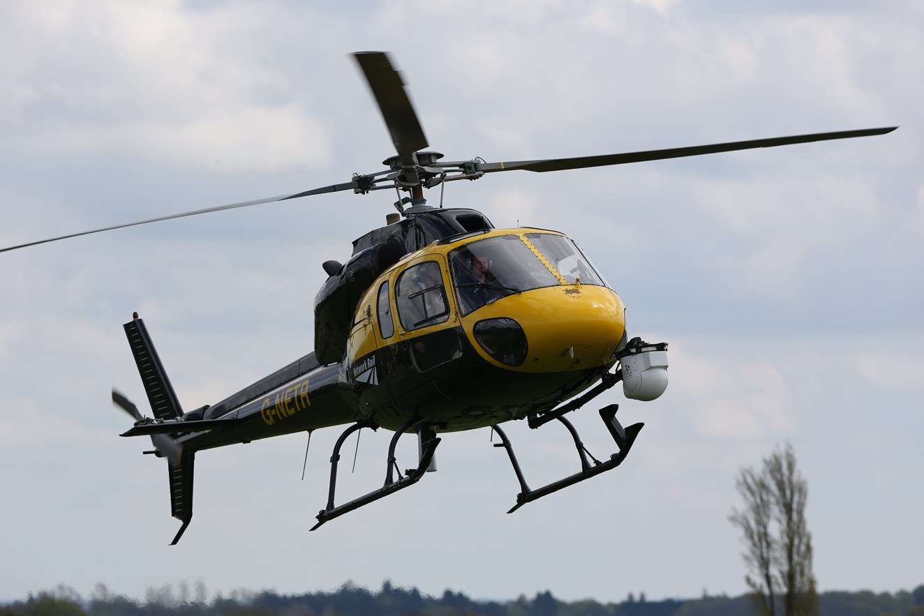 Network Rail helicopter on crime patrol in South East as railway trespass hits six-year high: NR helicopter