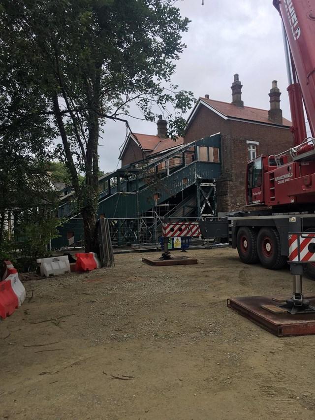 Eridge footbridge is demolished on Saturday, 4 July: Eridge footbridge is demolished on Saturday, 4 July