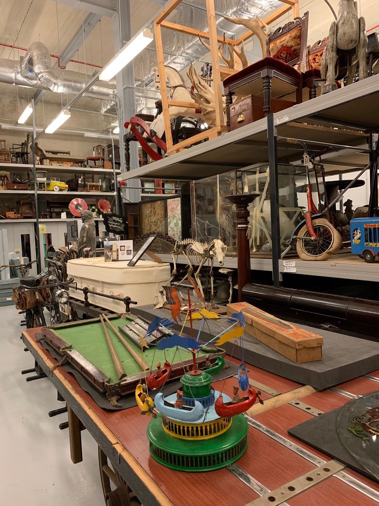 Leeds Discovery Centre: The Leeds Discovery Centre, where many of the objects in the Leeds Museums and Galleries collection, which feature on the MyLearning site, are stored.