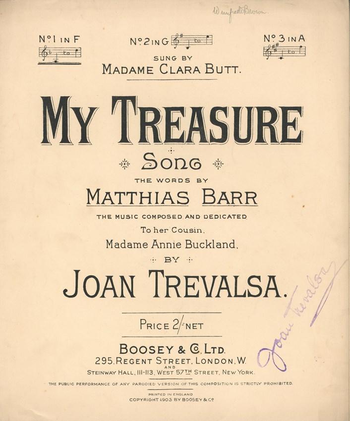 Joan Trevalsa - My Treasure 1903