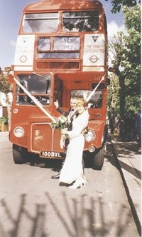 Routemaster wedding car is just the ticket for love on the buses couple!: Routemaster wedding car