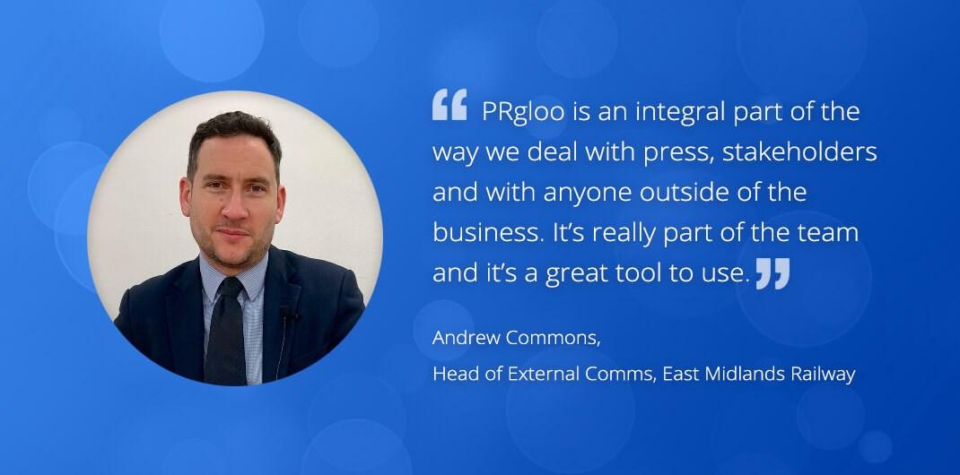 PRgloo - Helping to Keep Transport Communicators on Track: AndrewCommonsEMR2