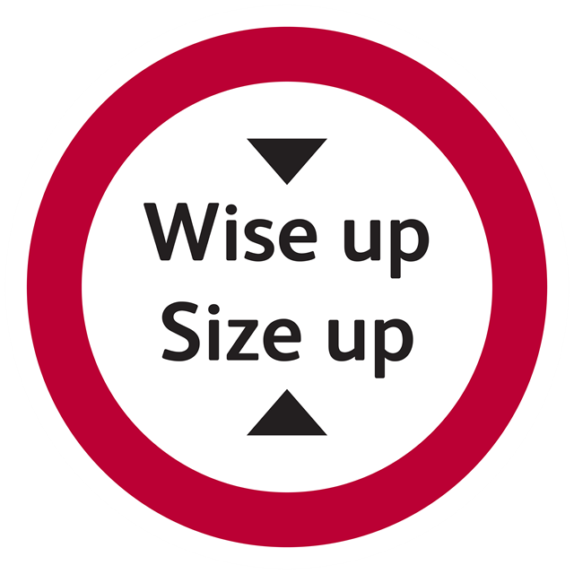 Wise up Size up 16x9 Logo