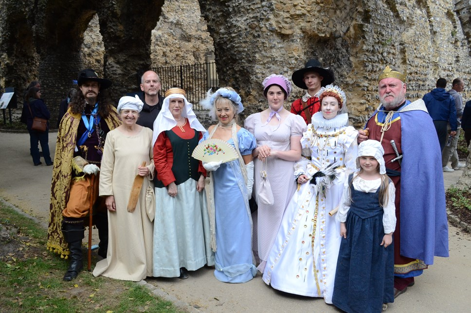 Historical figures at Water Fest
