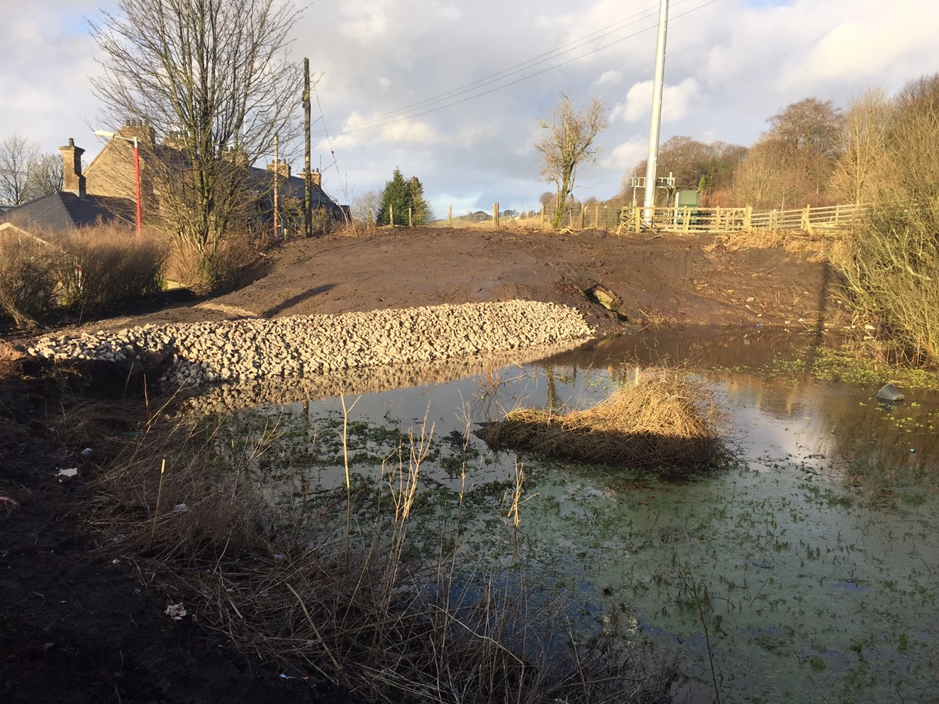 Pond drained