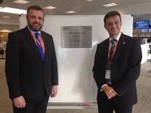 Cllr Michael Stokes and Martin Frobisher at the opening of the Rugby ROC