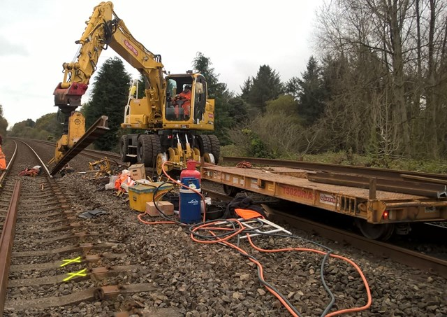 Swansea - Carmarthen Urgent Track Repairs October 2017