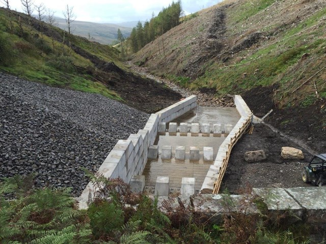 New drainage system at Dent, Cumbria