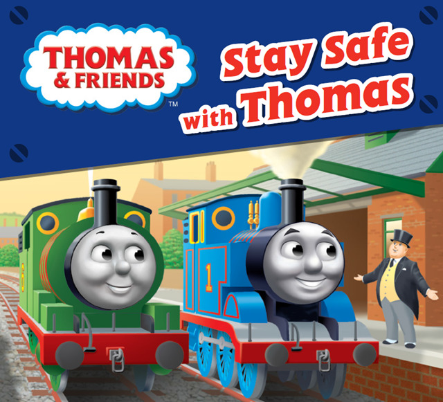 Network Rail partners with Thomas the Tank Engine to teach children railway safety: Stay safe with Thomas book front cover