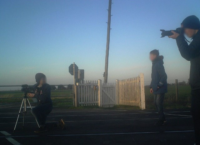 Shocking image shows young boys risking their lives taking photos at Cambridgeshire level crossing: Wisbech level crossing trespass-2