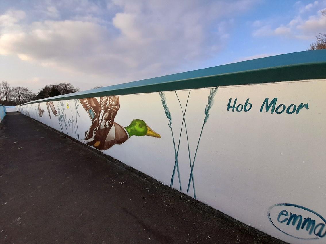 Hob Moor design on Love Lane footbridge, Photo credit Emma Garness