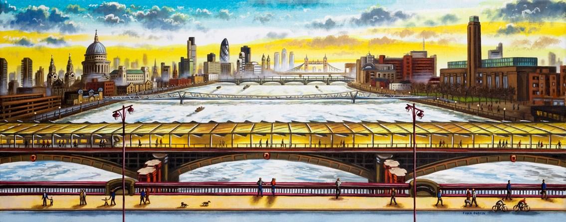 'Blackfriars Bridge Looking East' by John Duffin: 'Blackfriars Bridge Looking East' by John Duffin