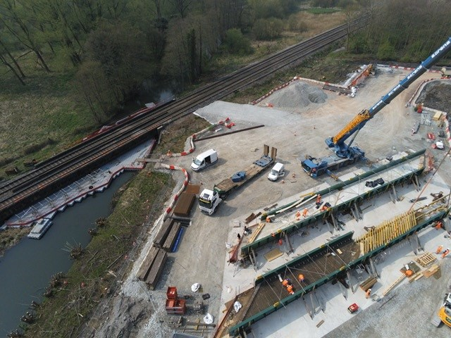 Passengers urged to check before travelling ahead of Bank Holiday bridge replacement: site aerial 02