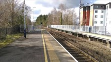 Visualisation showing what the new, longer platforms at Camberley will look like