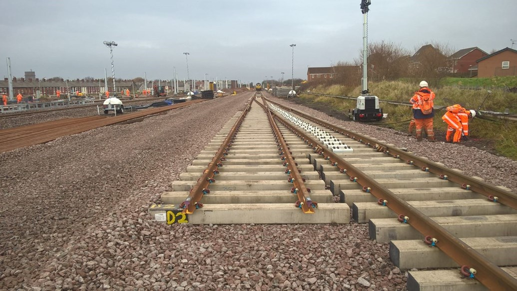 Passengers and railway neighbours invited to find out more about railway revolution between Blackpool and Preston: Blackpool North station approach new track Nov 2017