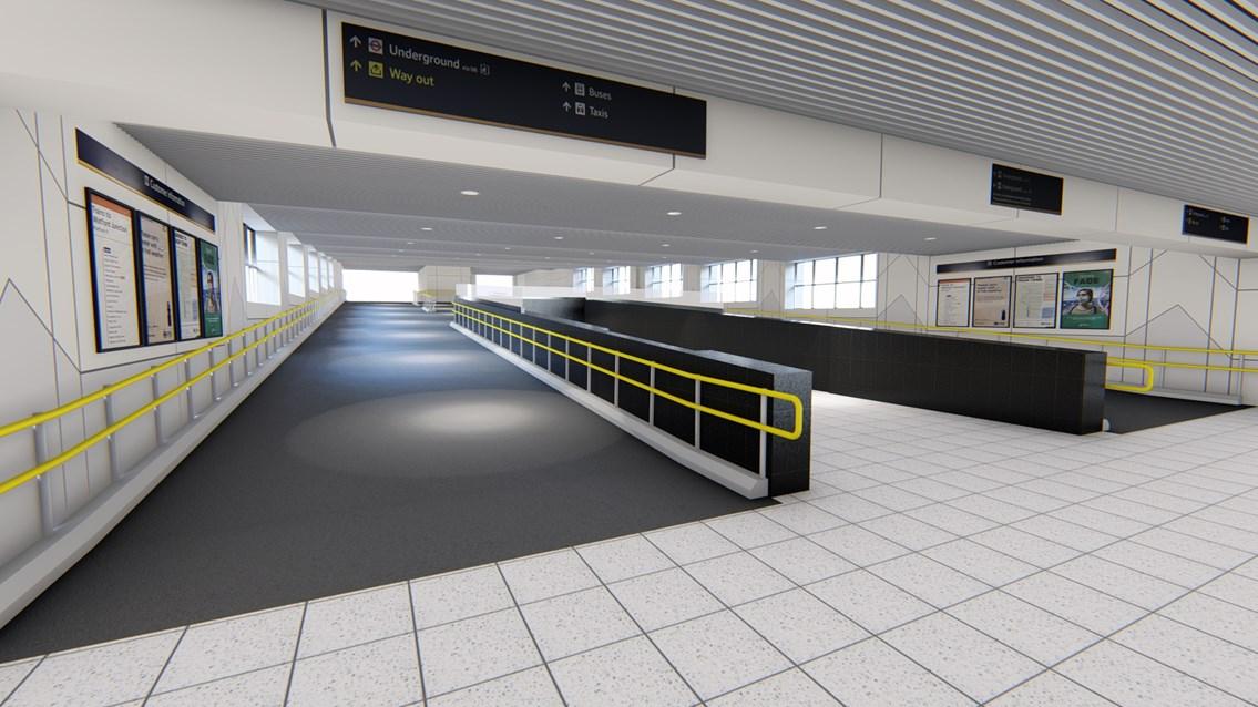 Clearing the way: Euston station's platform ramp revamp revealed: Euston Ramp 8-11 Visualisation-2