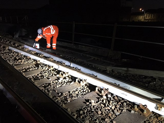 Painting parts of the railway white to absrob less heat