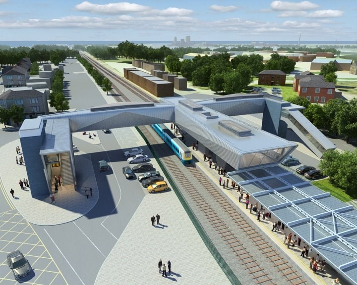 Work continues to improve Port Talbot Parkway station for passengers and local community: Port Talbot Parkway station artist's impression