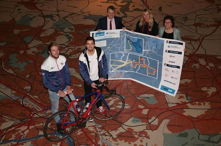 Photos from release of route of Columbia Threadneedle World Triathlon Leeds: 1.jpg