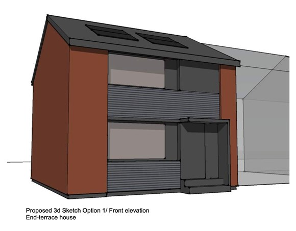 Innovative Renfrewshire 'retrofit' housing project could slash heating bills by 90%: Proposed front elevation