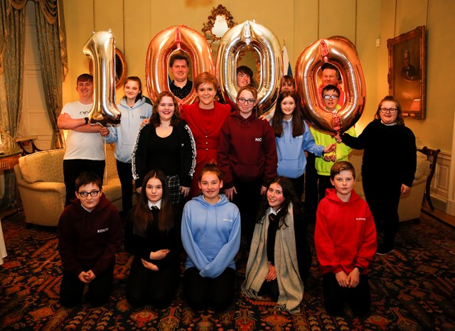 Care experienced young people have their voices heard: FM - 1000 voices Bute House-3-2