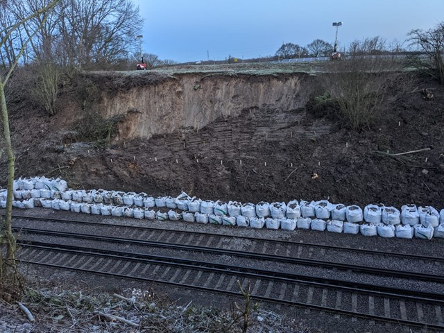Railway to close for 15 days between Sittingbourne and Gillingham, as Network Rail engineers tackle 40 metre landslip: Newington landslip