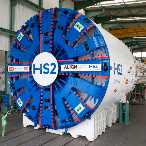 At the factory - building the tunnelling machines