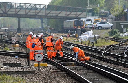 Track workers at Basingstoke