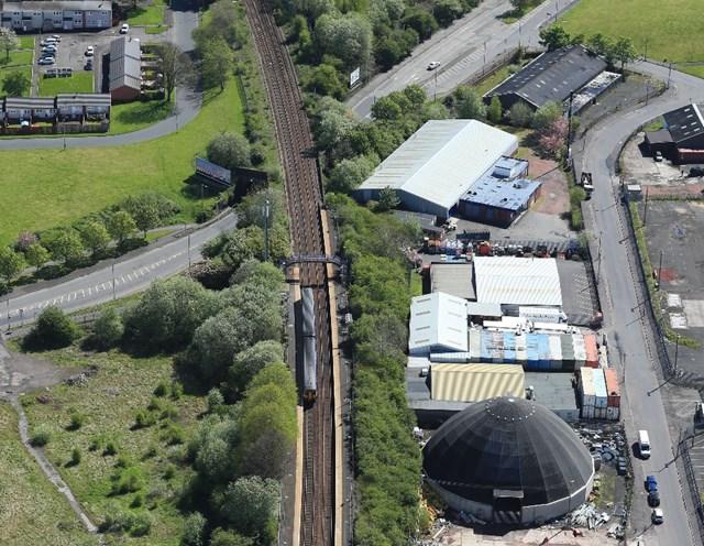 Nitshill Road to close overnight for vital rail bridge refurbishment: Nitshill Aerial