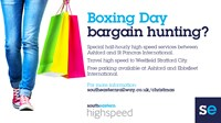 Southeastern runs Highspeed service for shoppers on Boxing Day: Boxing Day Shopping High Speed Promo 2018