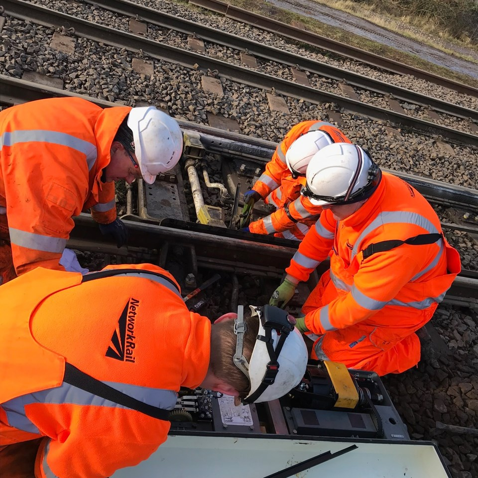 Passengers warned to check before they travel this weekend as vital engineering work will close railway between Winchester and Southampton: New points machines fitted after flooding in Caldew in Carlisle 4