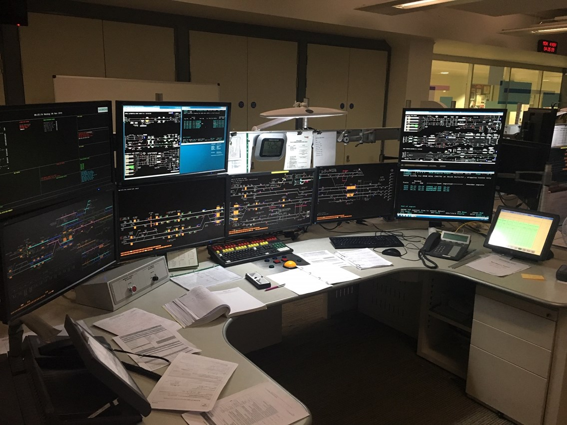 Edge Hill on workstation in Manchester rail operating centre