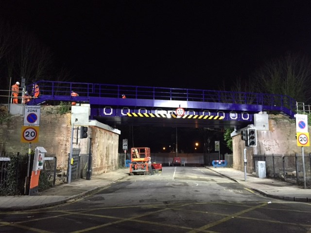 Reliability boost for passengers as Network Rail complete £2.7 million bridge replacement in Portsmouth: Burnaby 16-02-18