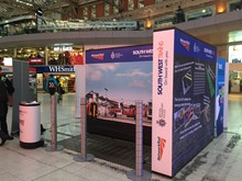 Rail Safety Awareness Day interactive display stand at Waterloo (1)