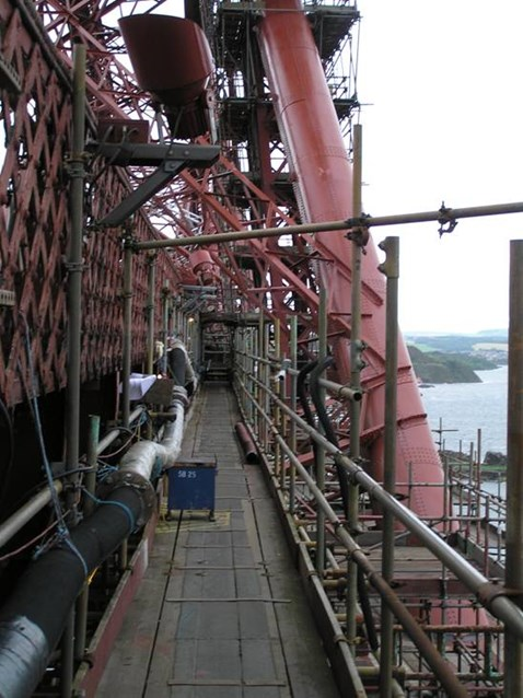 Similar extraction system and access like the Forth bridge will be created on Royal Albert bridge