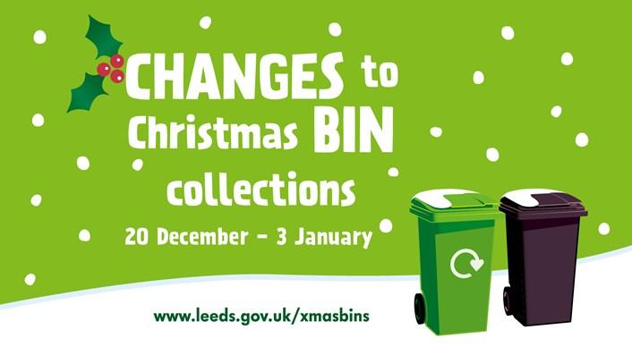 Christmas bins: Christmas bin dates reminder image