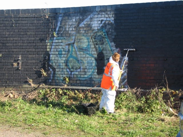 Bordesley Graffiti Clean Up
