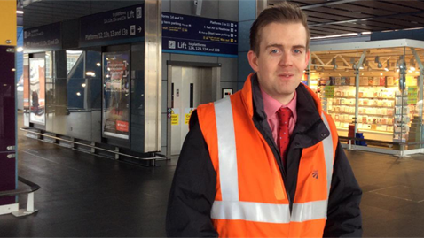 Calum MacKay is the station manager at London Paddington