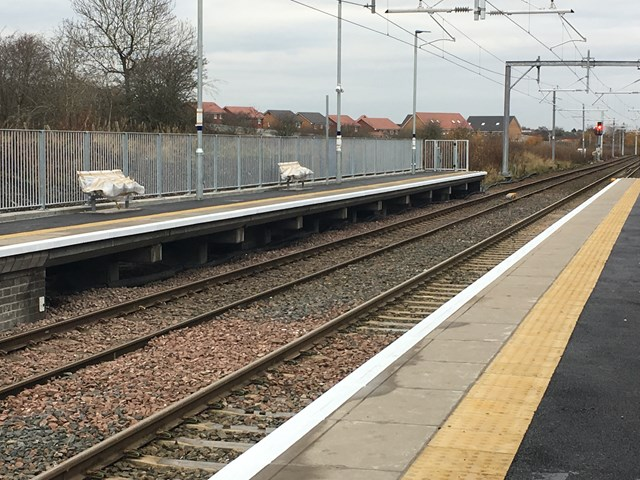 £2m Carfin station investment delivered: 26 Nov extended platforms at Carfin