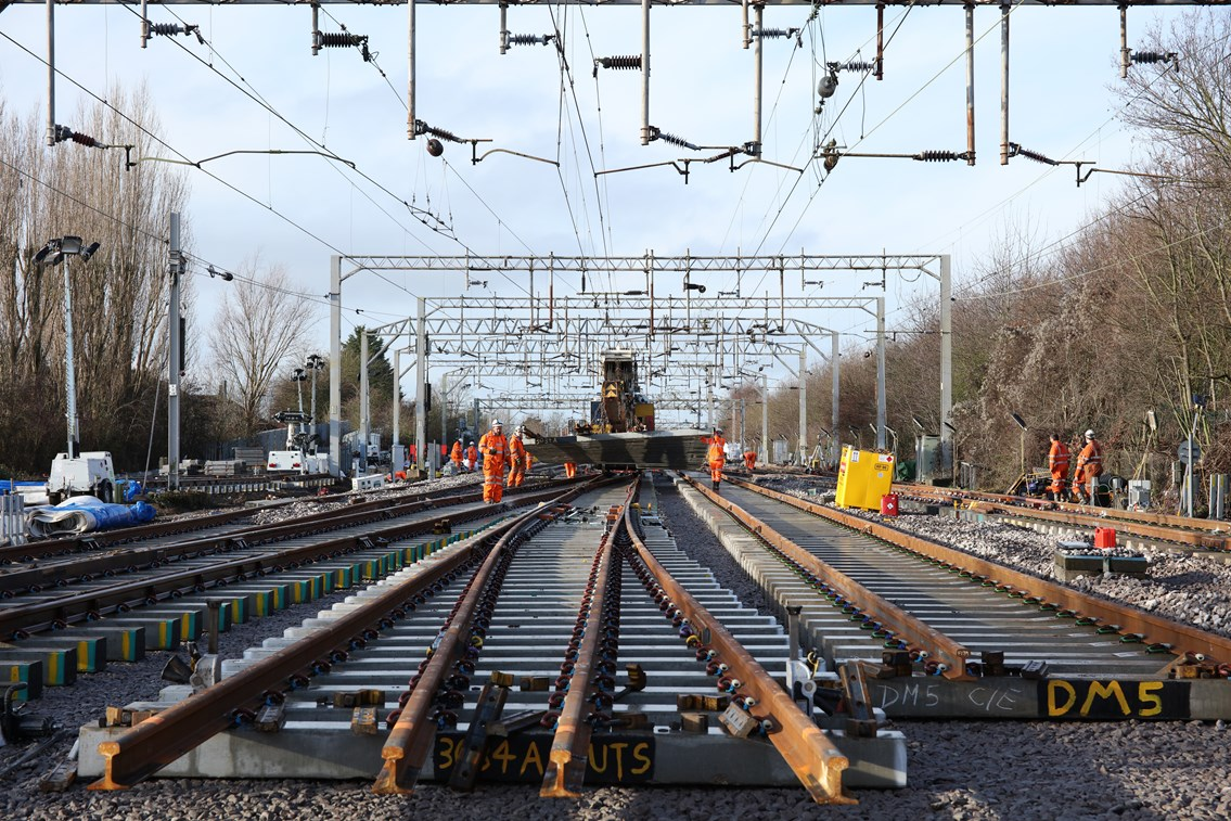 Majority of Anglia's rail network open for business as usual over August Bank Holiday as railway continues to welcome back passengers: Anglia track renewal - Colchester