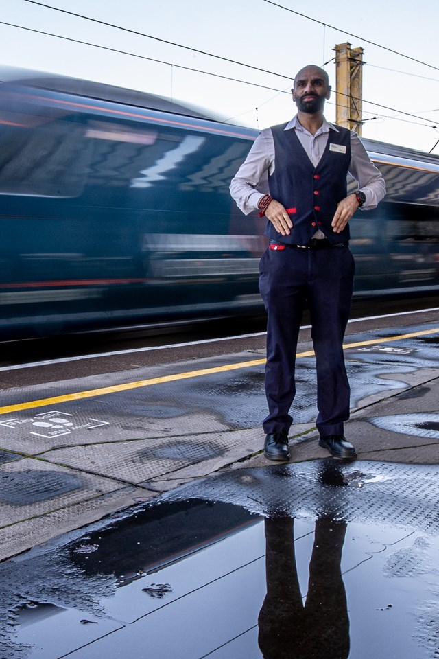 Railway Heroes, Hussain Master, Avanti West Coast. Photo credit: Charlotte Graham
