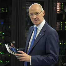 John Swinney launches Scottish IXP: Mr Swinney at Pulsant, Edinburgh