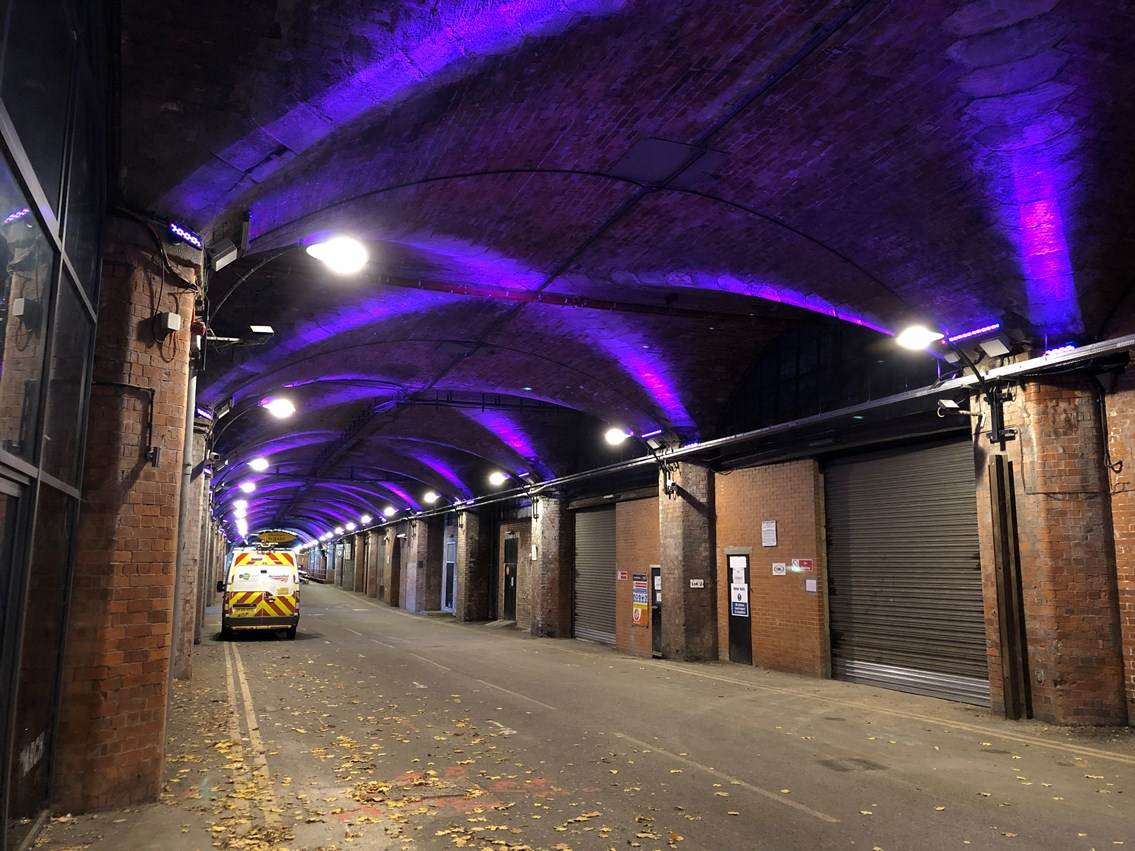 Britain's railway stations go purple to celebrate disabled people worldwide: Purple (1)