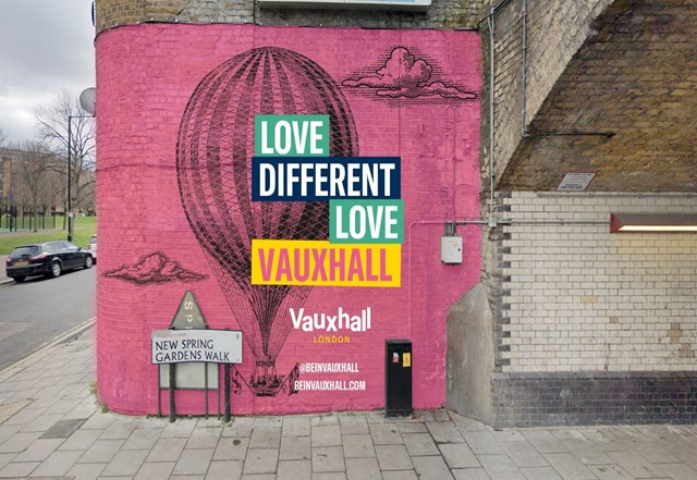 Network Rail backs mural in Vauxhall celebrating a historic record at the most famous pleasure garden of the 19th Century: Vauxhall mural