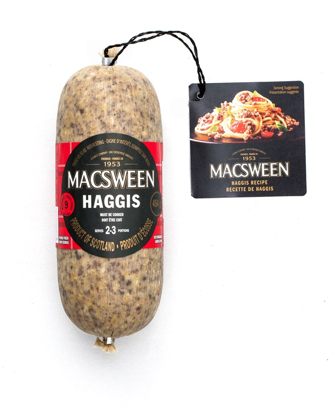 Macsween Haggis dual language 454g high res