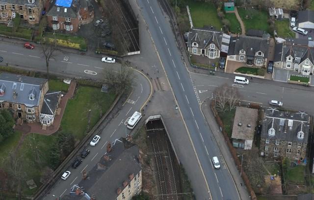 Vital improvement work to begin on two Glasgow railway bridges: Crosshill bridges aerial