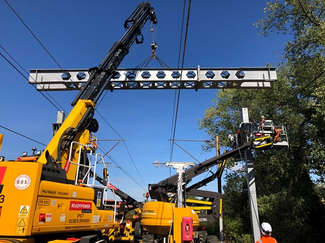 Southend rail passengers reminded to check before they travel as final phase of upgrade work resumes: Southend Victoria overhead wire upgrades
