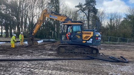 Rugby club car park works