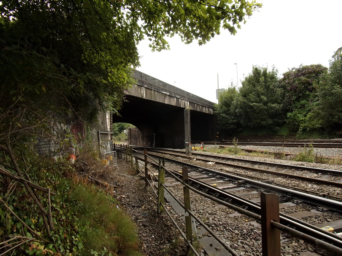 Cardiff Road bridge in Newport is being partly reconstructed to provide the extra headroom needed for the future electrification of the railway