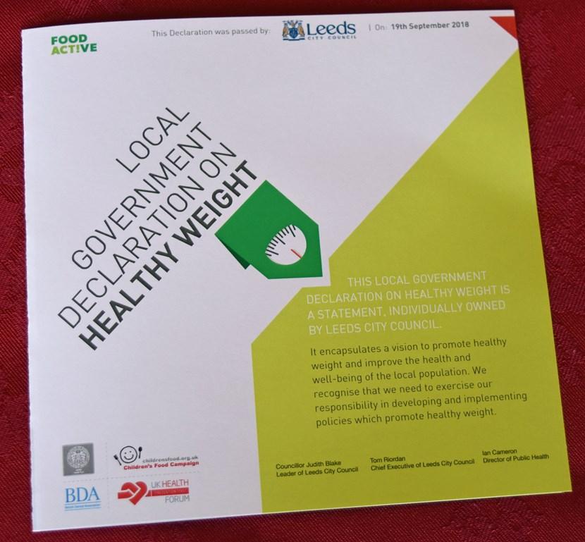 Healthy Weight Declaration to underpin citywide work: healthyweightdeclarationb01022019-675635.jpg
